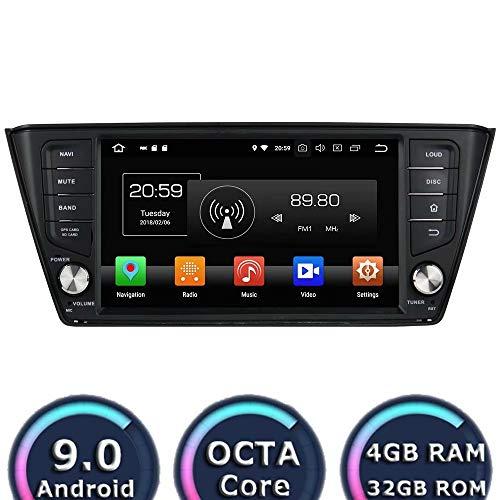 ROADYAKO Navigation Automatique pour Skoda Fabia 2015 2016 2017 Android 8.0 Autoradio stéréo avec GPS 3G WiFi Lien Miroir RDS FM AM Bluetooth Audio Vidéo