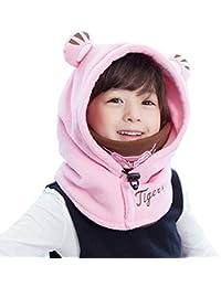 TRIWONDER Enfants Masque Polaire Balaclava Visage pour Temps Froid Masque  De Ski Hiver Coupe-Vent Cap Cache-Cou Couverture Complète… 046289049aa