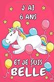 J' Ai 9 Ans Et Je Suis Magique: Carnet De Notes Rose Pour Les Amoureuse De Licorne Cadeau D'anniversaire Pour Fille De 6 Ans