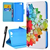 51 p1JuJ8%2BL. SL160  UK BEST BUY #1Wiko Pulp 4G Wallet Case, We Love Case Leather Stand Flip Folio Card Holder Slot Great Pattern Cute Cover, Premium PU Protective Shock Absorption Proof Drop Defend Anti Scratch Shell for Wiko Pulp 4G   Half Flower price Reviews uk