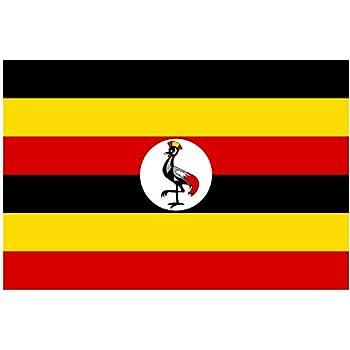 Uganda National Flag 5ft X 3ft Amazon Garden Outdoors