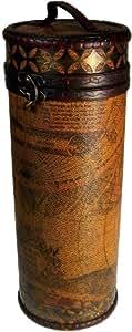 Droit Motif carte–Contient 1bouteille–H 320mm. Style antique Wineboxes. Un cadeau parfait–Idéal pour les anniversaires, Noël...