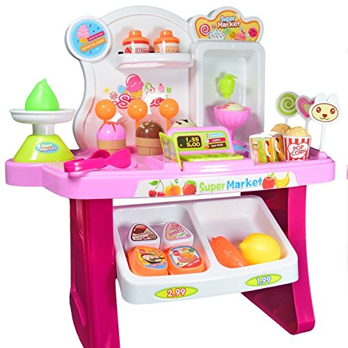 Grapple Deals Role Play Mini Supermarket Sweet Shop Play Set Toy With Sound Effects For Kids