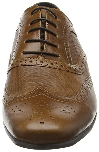 Red Tape Carn 2, Brogues Homme Marron (Beige)