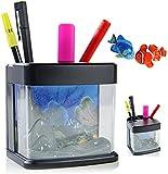 Nick and Ben Aquarium Stifthalter mit LED Lampe und Fischen