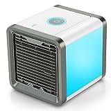 COMLIFE 4 in 1 Mini Luftkühler, Mobile Klimageräte Air Cooler Luftbefeuchter Difffuser und Luftreiniger Tischklimaanla