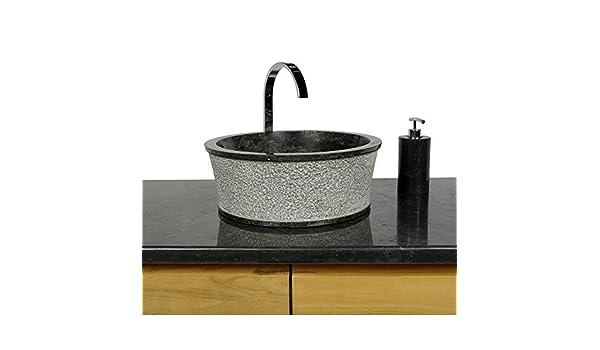 Sommerküche Waschbecken : Wohnfreuden marmor waschbecken jaako 40 cm anthrazit ✓ naturstein