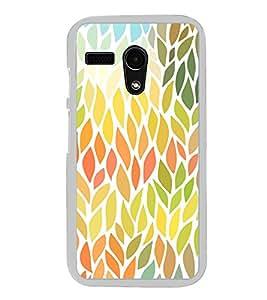 Leaves Pattern 2D Hard Polycarbonate Designer Back Case Cover for Moto G Turbo Edition :: Moto G Turbo (Virat Kohli Edition)