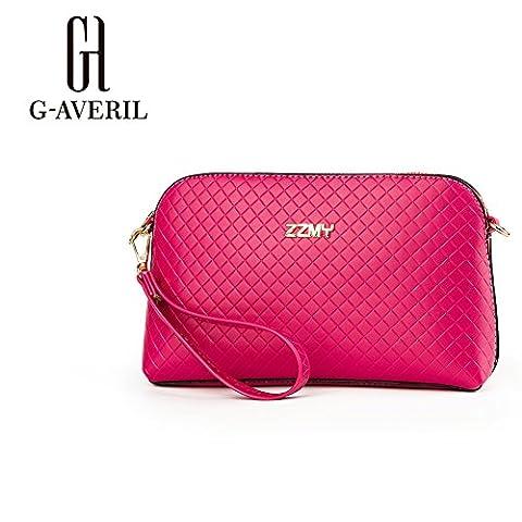 (G-AVERIL)New Handbag Shoulder Bag PU leather Messenger Bag,Japan Korea tide simple fashion seasons popular small bag dating bag handbags with chains