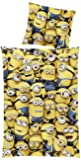 "Global Labels G 95 600 MI1 180 Minions ""Crowd"" Bettwäsche, Renforce 135 x 200 cm, Bettbezug und Kissenbezug 80 x 80 cm"