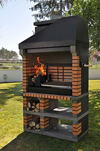 Woodfired Brick Masonry Argentinean Chain Cran Bbq (65X50Cm Grill)