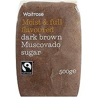 500 g de azúcar de Brown oscuro Mascabado Waitrose