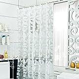 LFF- PEVA Wasserdichte Dicke Warme Duschvorhang Badezimmer Umweltschutz Form Vorhang Nordic Kleine Frische Duschvorhänge (Größe : 120X180cm)