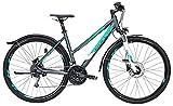 Damen Fahrrad 28 Zoll - Bulls Cross Street - Shimano 27-Gang Kettenschaltung, Suntour Federgabel, Nabendynamo, grau matt