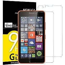 NEW'C Verre Trempé pour Nokia Microsoft Lumia 640,[Pack de 2] Film Protection écran - Anti Rayures - sans Bulles d'air -Ultra Résistant (0,33mm HD Ultra Transparent) Dureté 9H Glass