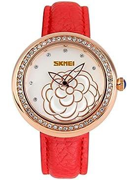 Elegante stilvolle Camellia klassische Vintage-Uhren/Mädchen Strass Mode Uhr-G