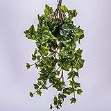 artplants Künstlicher Efeubusch mit 225 Blättern, grün, 70 cm - Efeu Deko/Kunstpflanze Efeu