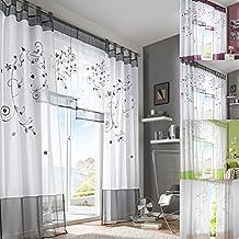 sundautumn rideau en voile rideau voilage impression de fleurs pour salon fentre chambre design moderne - Rideaux De Salon Moderne