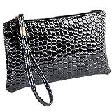 ZARU Frauen-Krokodil-Leder-Kupplungs-Handtasche