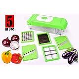 5 In 1 Chopper Graters Slicer Chipser, Dicer, Cutter Chopper Fruit & Vegetable Heavy Stainless Steel Blades - SWARA