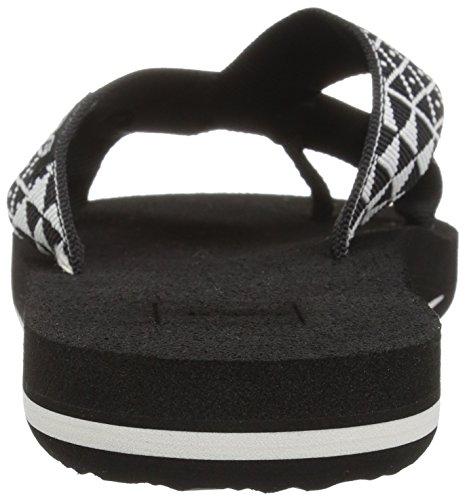 Teva Damen Mush Kalea W's Flip Flops Schwarz (Pasa Black/white)