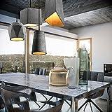 4x Kreative Modern Industrielle Pendelleuchte, MOTENT minimalistisch Vintage Hängeleuchter Lampe Kronleuchter aus Zement Hängelampe E27 Lampenfassung Deckenleuchte Ceiling Einzel Lampe für Küchen Keller Esszimmer