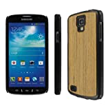 MPERO Embark Series Recycled Wood Case Tasche Hülle for Samsung Galaxy S4 Active I9295 / I537 - Teak