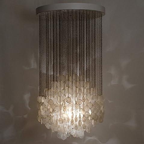 NabothT tiefen natürlichen shell Kronleuchter kreative Schlafzimmer leuchten stilvolle Treppe Lichter minimalistische Kunstwerke leuchtet hell ihr Leben