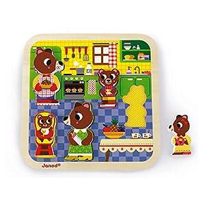 Janod Puzzle Chunky La Cocina, Multicolor (Juratoys J07082)