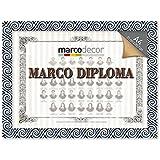 Marco para diploma A4 Tribal negro y azul