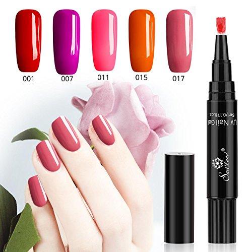 One Step gel nail polish Pen, no need base top coat, Saviland 3in 1UV LED soak off smalto per unghie nail art kit