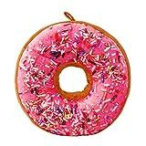 Hemore Süß Sofakissen Plüsch Spielzeug Dekokissen Stuhlkissen Sitzkissen Donut Plüsch Kissen Kissen (Red Pink Lady) 2 Kissenhülle, Sofakissen, Dekokissen, Kissenbezug