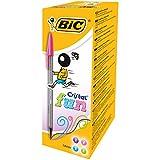 Bic 895793 Penna a Sfera Cristal, Large, 1.6 mm, Confezione da 20