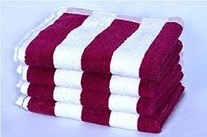 S Kumars Love Touch 4 Piece 450 GSM Cotton Hand Towel Set - Raspberry