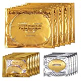 ALIVER 24k Gold Bio Collagen facial Máscara, Gold Powder Eye...