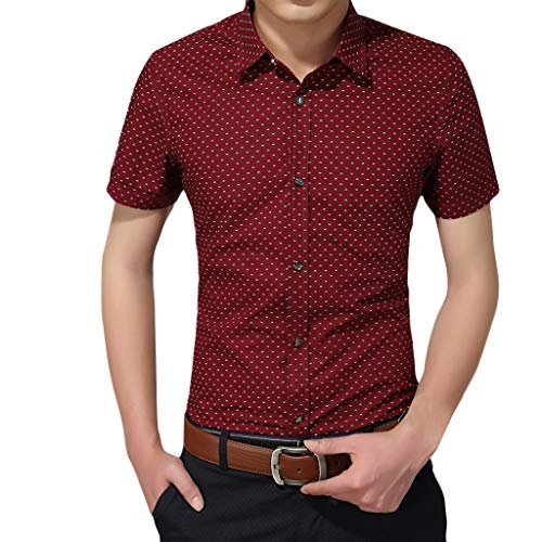 KUKICAT Herren Top Sommer Herren Printed Casual Kurzarm Bequeme Tops Shirts -