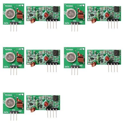 Bonega® 5 pcs 433MHz RF Transmitter Module + Receiver Kit For