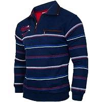 Soltice - Polo da uomo a maniche lunghe, maglia blouson con colletto, taglie dalla M alla 3XL