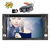 Eincar XM-2DTSBN6216 freie Kamera & 8GB Doppel-DIN-GPS-Auto-Stereo / in Dash-Radio Stereo / GPS-Nav+ Europa-Karten + Autoradio Bluetooth 6.2 Zoll Touch Screen + USB/SD + AUX 2 DIN FM / AM Car DVD-Pl