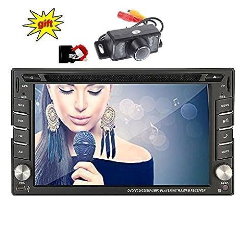 Eincar XM-2DTSBN6216 freie Kamera & 8GB Karten-Karte Doppel-DIN-GPS-Auto-Stereo / in Dash-Radio Stereo / GPS-Navigation + NAVI-Software inkl. Europa-Karten (38 Länder) + Autoradio Bluetooth Freisprecheinrichtung 6.2 Zoll Touch Screen + USB / SD + AUX + 2 DIN FM / AM Universal Car DVD-Player