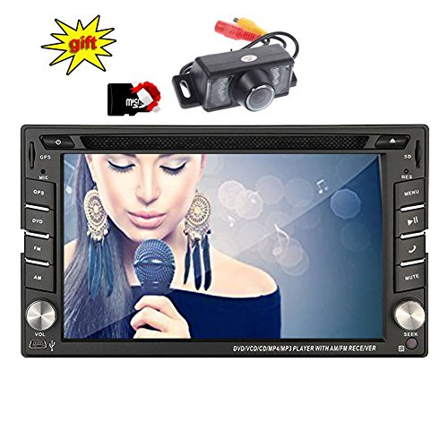 Eincar XM-2DTSBN6216 freie Kamera & 8GB Doppel-DIN-GPS-Auto-Stereo / in Dash-Radio Stereo / GPS-Nav+ Europa-Karten + Autoradio Bluetooth 6.2 Zoll Touch Screen + USB/SD + AUX 2 DIN FM / AM Car DVD-Pl (Doppel-din Touch Screen Car Stereo)