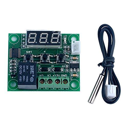 WINGONEER -50-110 ° C W1209 CC 12V Digital Mini temperatura del termostato controllo del regolatore di interruttore del modulo sensore