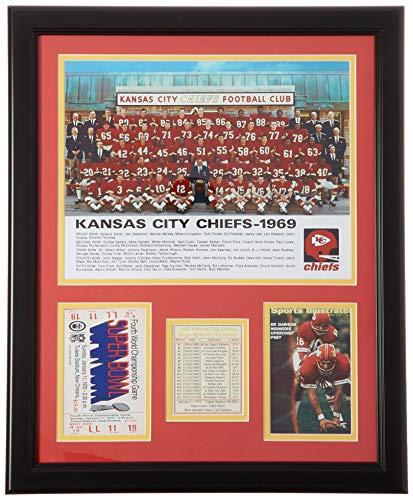 Legenden Sterben Nie 1969Superbowl IV Champion Kansas City Chiefs-- Stolperfallen gerahmtes Foto Collage, 40,6x 50,8cm