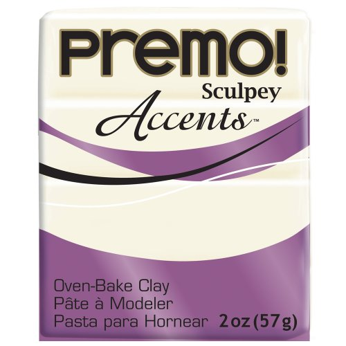 Premo Sculpey Accents Polymer Clay 2oz-White Translucent (Translucent)