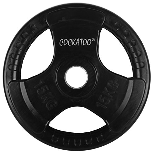 Cockatoo Professional Gym Training (10 Kg to 100 Kg) Home Gym Set With Olympic (51 mm Diameter) Metal Integrated Rubber Plates ; Home Gym Combo