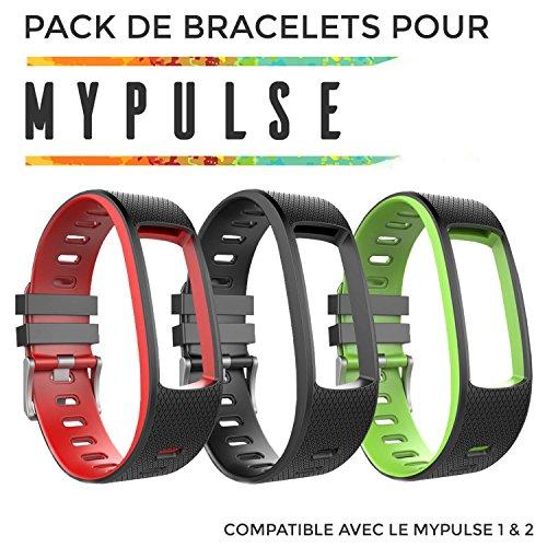 OuiVallée Pack Sport - Bracelets supplémentaires pour MyPulse 1 & 2