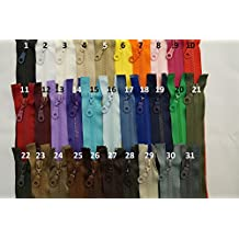 FIM Reversible cremallera plástico plástico dientes nº 5cremallera con Reversible Zipper notebook Bar para chaquetas, 2–Color Blanco (101), 2 - reinweiß(101), 100 cm