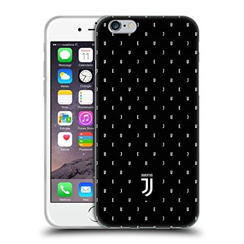 Ufficiale Juventus Football Club Banale Lifestyle 2 Cover Morbida In Gel Per Apple iPhone 6 / 6s Nero Logo Pattern