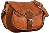 """Sac à main - Gusti Cuir nature """"Evelyn"""" sac à bandoulière vintage sac à main rétro sacoche besace homme femme cuir de chèvre marron K54b S"""