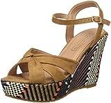 Springfield Women's Sandalia Cuña Rafia Platform Sandals